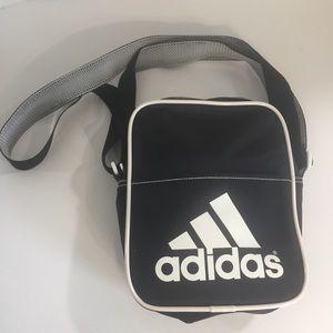 Adidas Black logo small bag purse